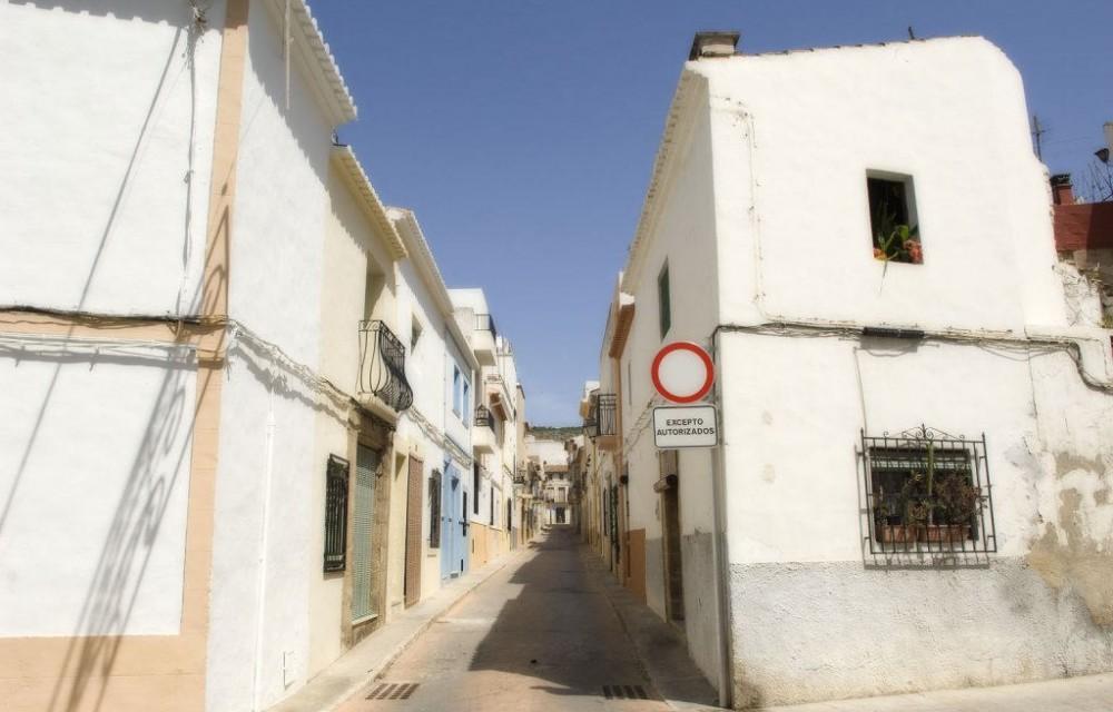 costa blanca javea calle blanca del pueblo