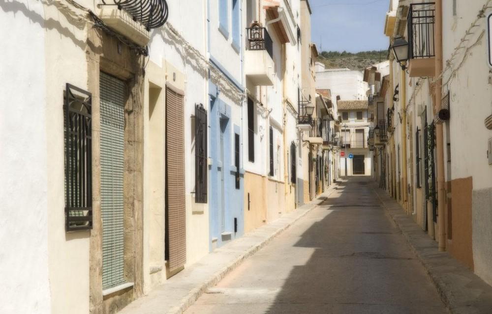 costa blanca javea calle vecinal del pueblo