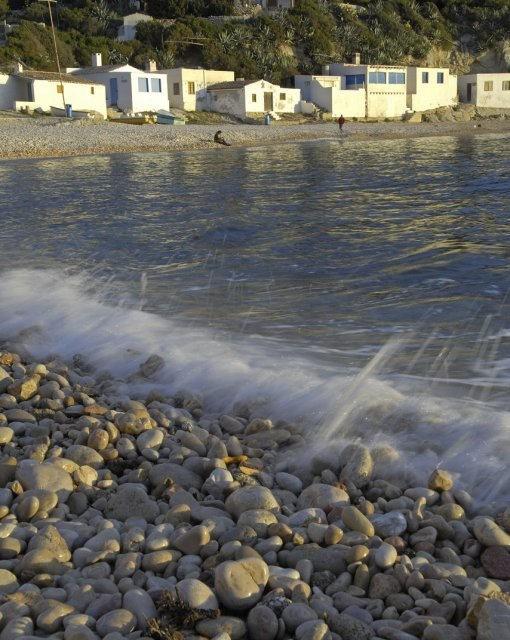 costa blanca javea orilla del mar en una manana soleada