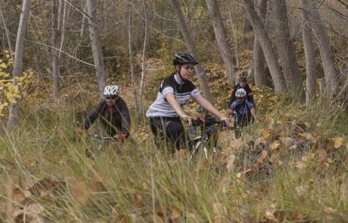 costa blanca jornadas nico terol grupo de ciclistas por el bosque