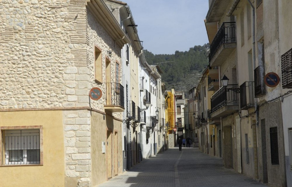costa blanca lorcha calle tipica del pueblo
