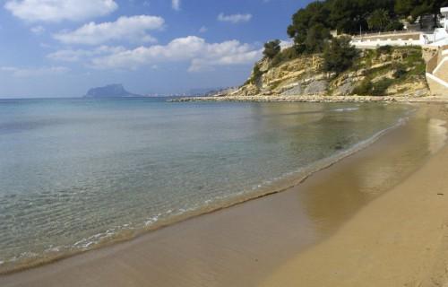 costa blanca moraira bonita orilla del mar