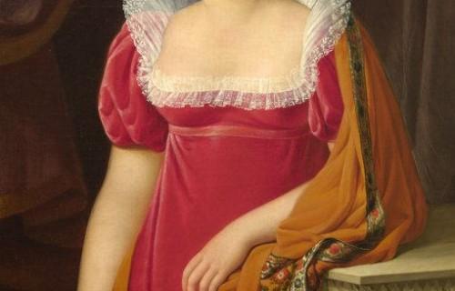 COSTA BLANCA ALICANTE Sala del MUBAG Retrato de la Baronesa Mayneaud de Pancemont (1812) de José Aparicio Inglada