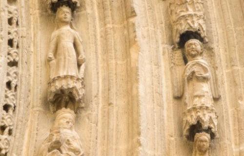 COSTA BLANCA LA VEGA BAJA ORIHUELA Catedral Detalle de la puerta lateral