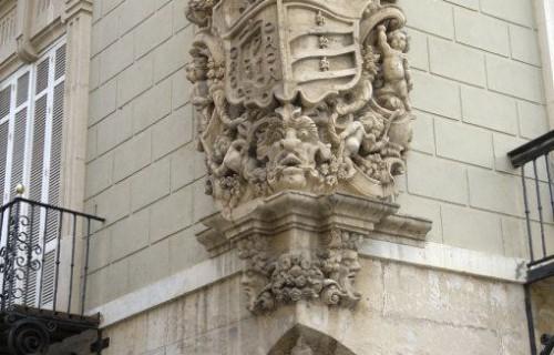 COSTA BLANCA LA VEGA BAJA ORIHUELA Palacio del Marqués de Arneva Esquina del Pavo Barroco