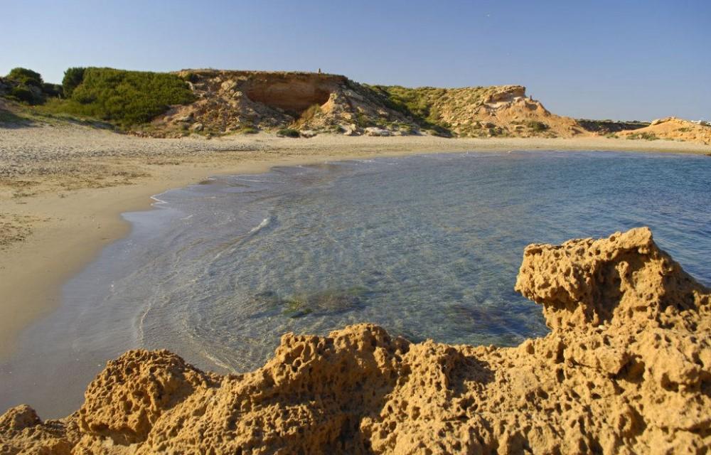 costa blanca orihuela playa flamenco soleada cala penas