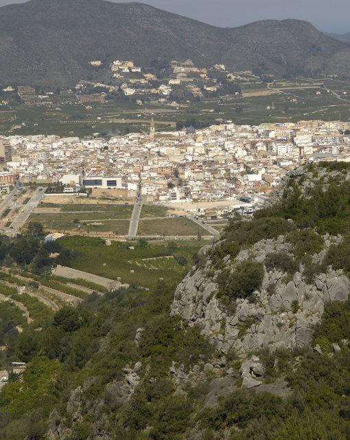 costa blanca pego panoramica del pueblo