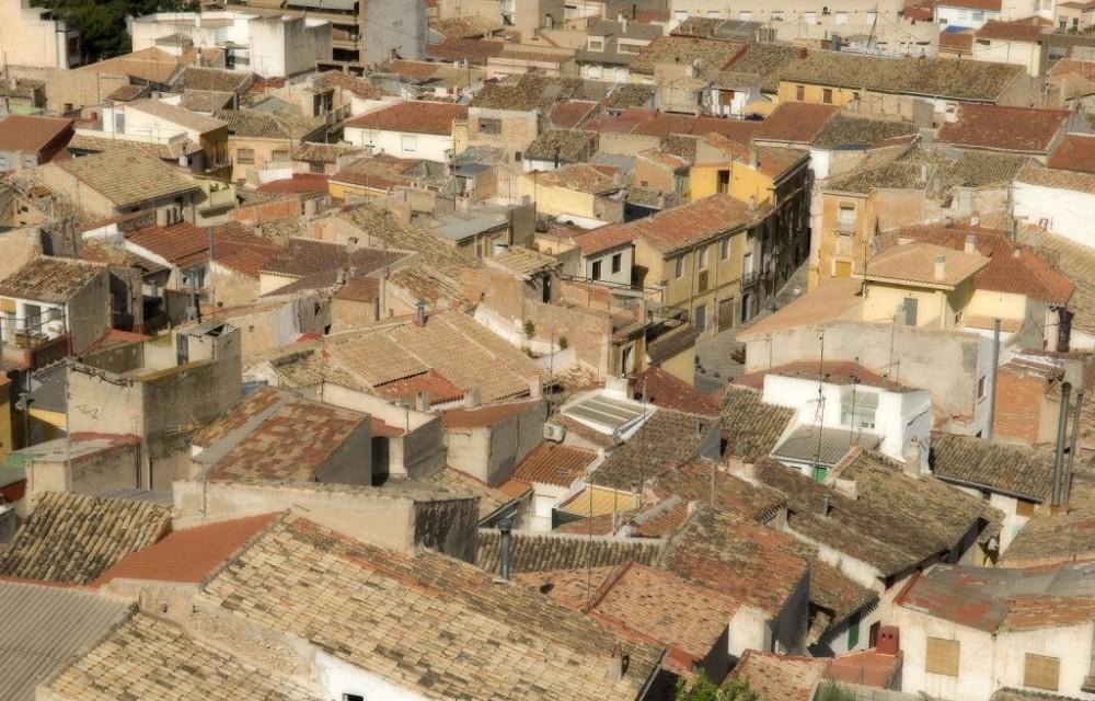 costa blanca petrer tejados de las casas del pueblo