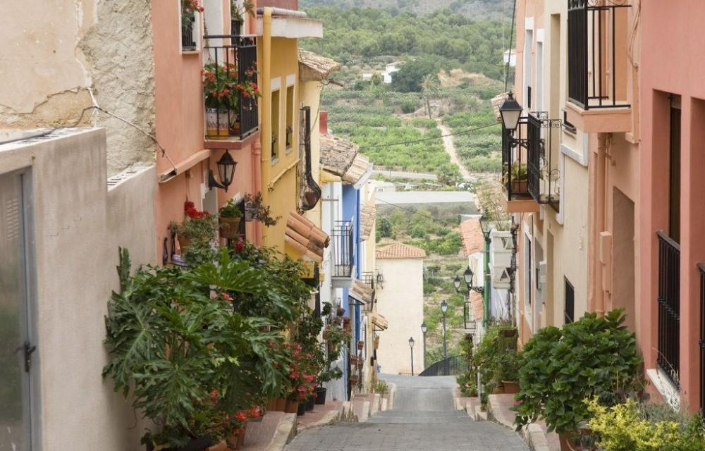 costa blanca polop escaleras de calle preciosa del peblo