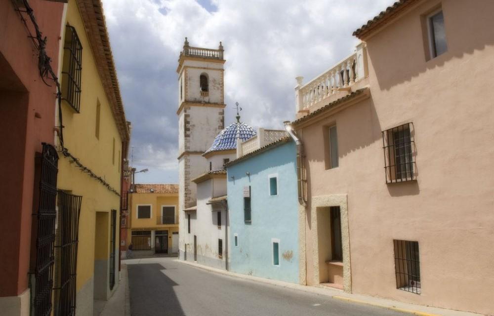 costa blanca sanet y negrals calle tradicional del pueblo