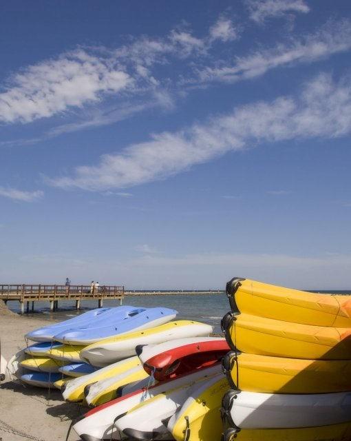 costa blanca santa pola kayaks en playa tamarit