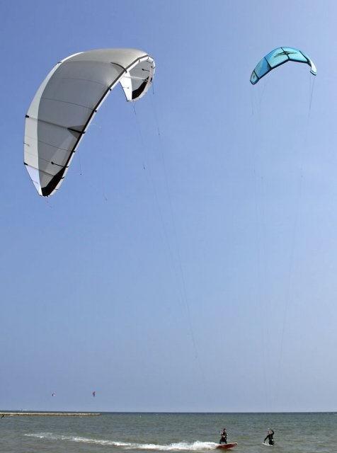 costa blanca santa pola kitesurf en verano