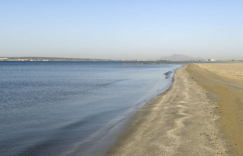 costa blanca santa pola playa de tamarit orilla del mar