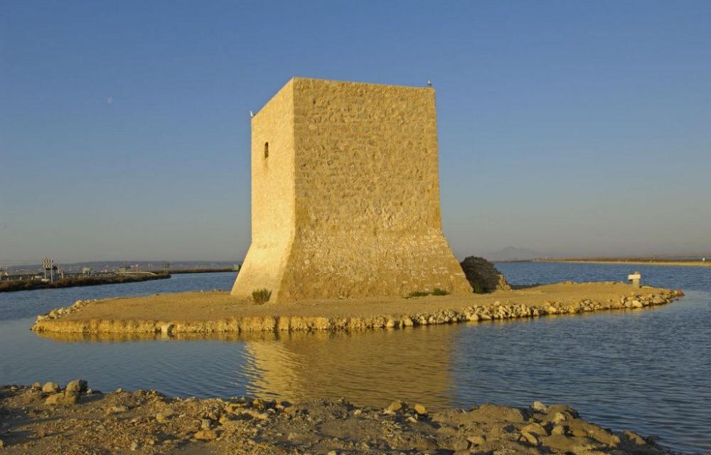 costa blanca santa pola torre tamarit en el mar