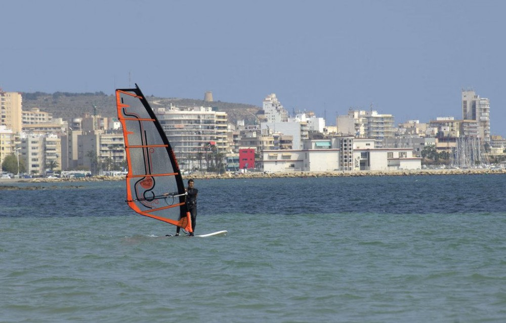 costa blanca santa pola windsurf amateur