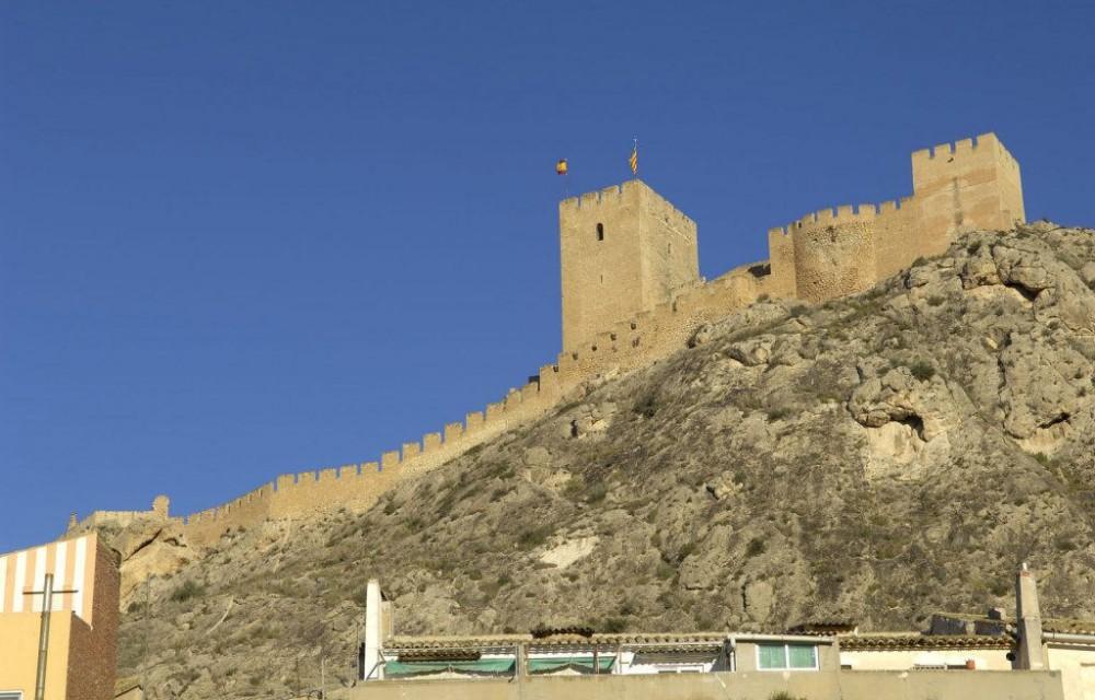 costa blanca sax castillo fortaleza