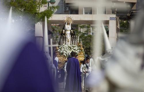 costa blanca semana santa crevillente virgen maria enfocada