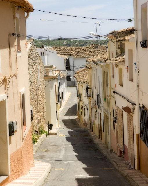 costa blanca senija calle del pueblo