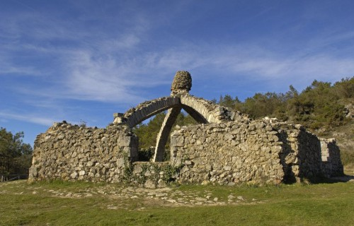 COSTA BLANCA SIERRA DE MARIOLA Localidad de AGRES Nevero llamado la Cava Gran (Cava arquejada)