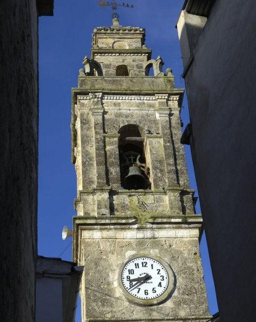 costa blanca sierra mariola alfafara campanario de la iglesia