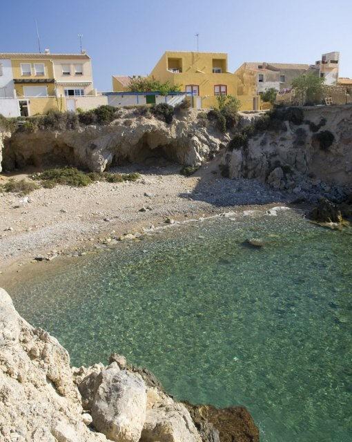 costa blanca tabarca cala con agua transparente