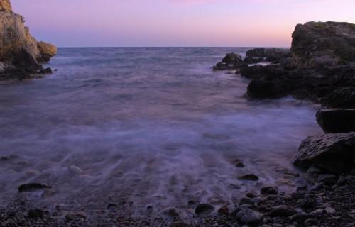 COSTA BLANCA ISLA DE TABARCA Cala en la Cueva del Llop Marí