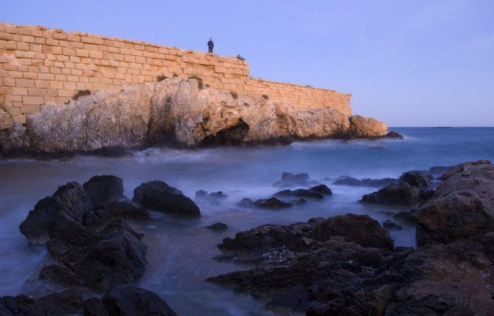 costa blanca tabarca espuma del mar foto artistica