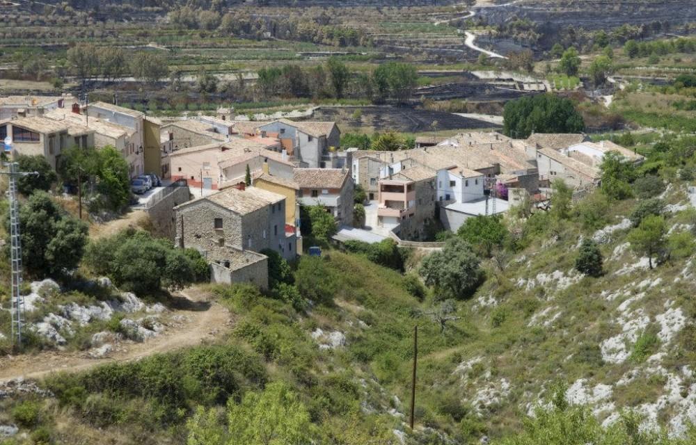 costa blanca vall alcala alcala de la jovada pueblo barranco