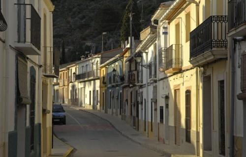COSTA BLANCA VALL DE POP MURLA Calle de la localidad
