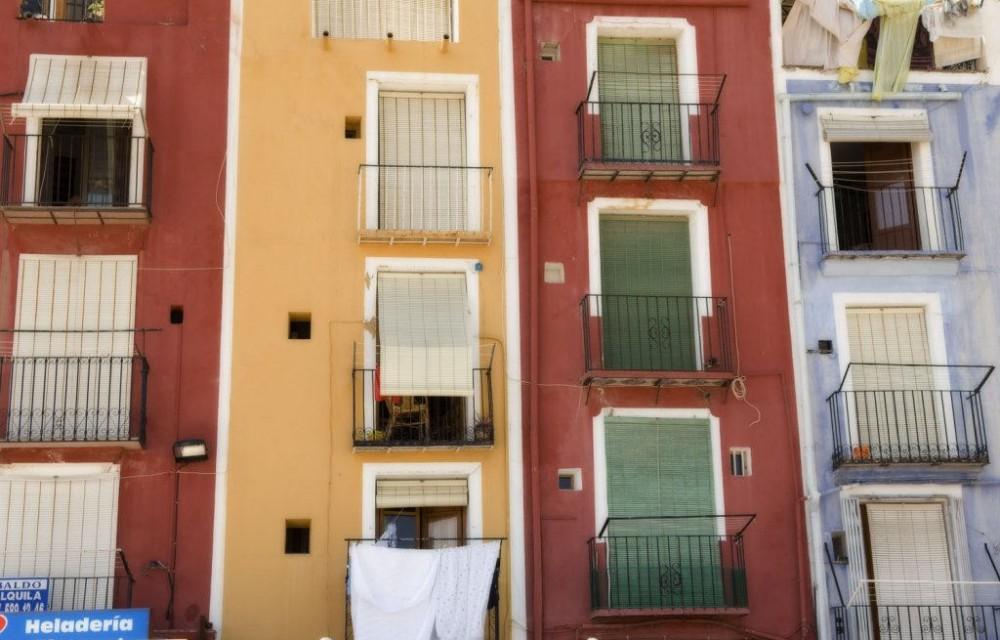 costa blanca villajoyosa fachadas de casas de colores