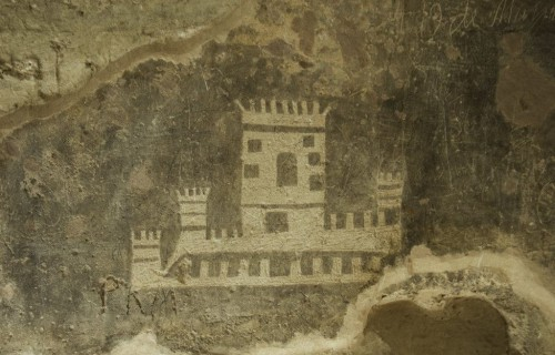 COSTA BLANCA VILLENA dibujo del castillo