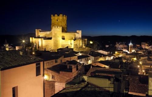 COSTA BLANCA VILLENA castillo de noche iluminado