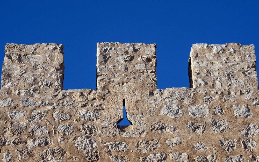costa blanca villena muralla del castillo