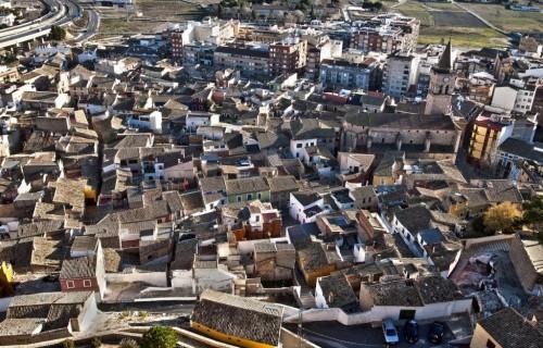 COSTA BLANCA VILLENA tejados de casas desde arriba