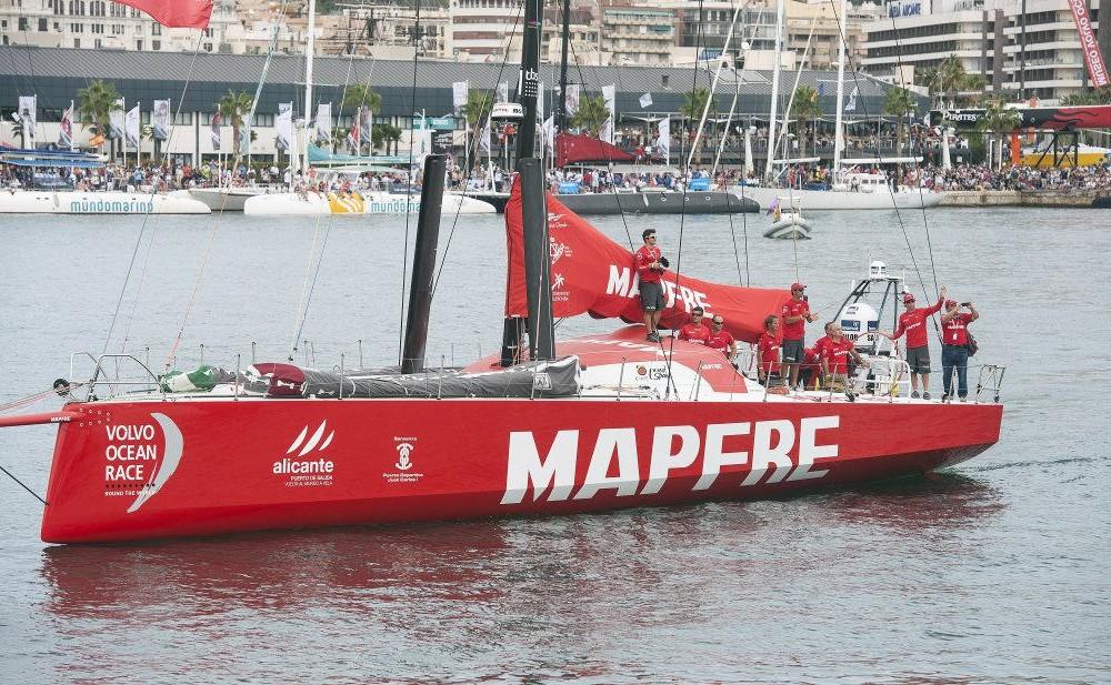 costa blanca volvo ocean race barco del equipo mapfre