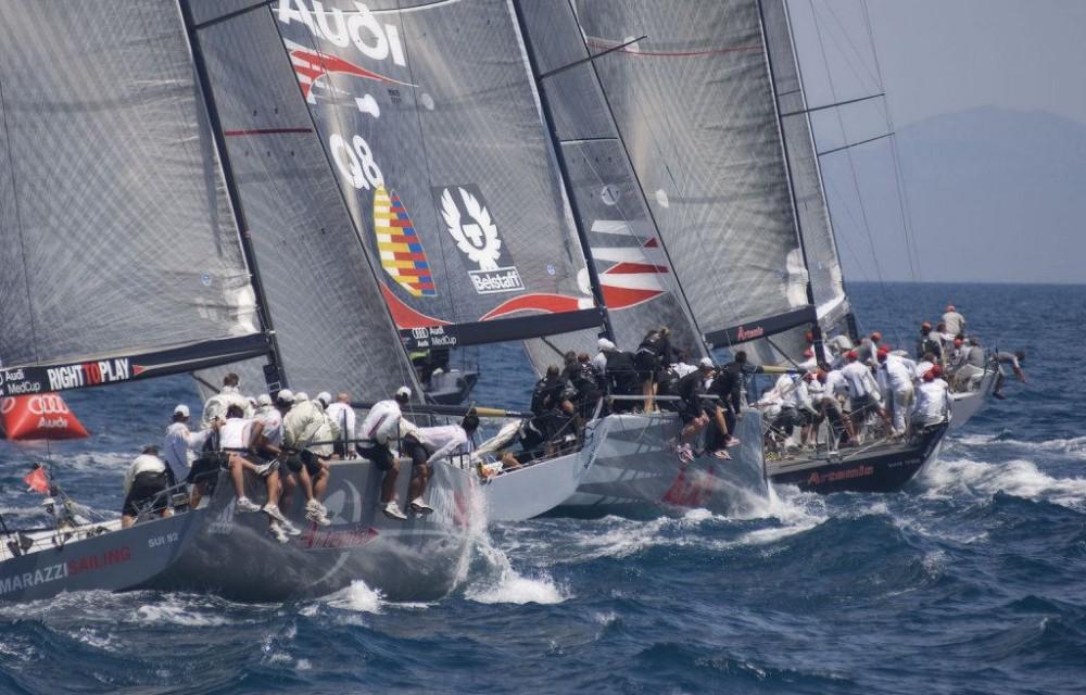 costa blanca volvo ocean race barcos en plena regata