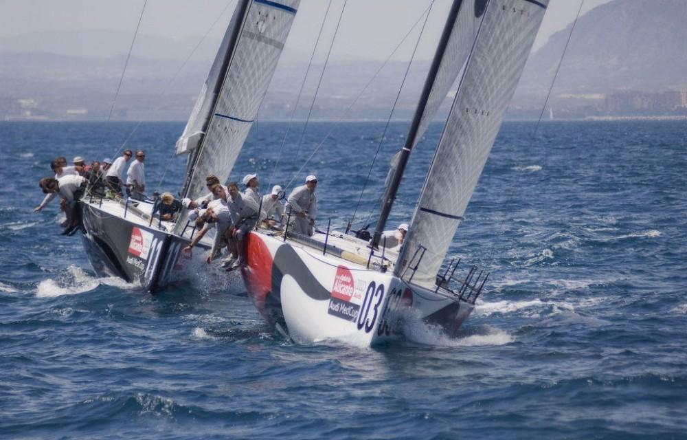 costa blanca volvo ocean race barcos girando