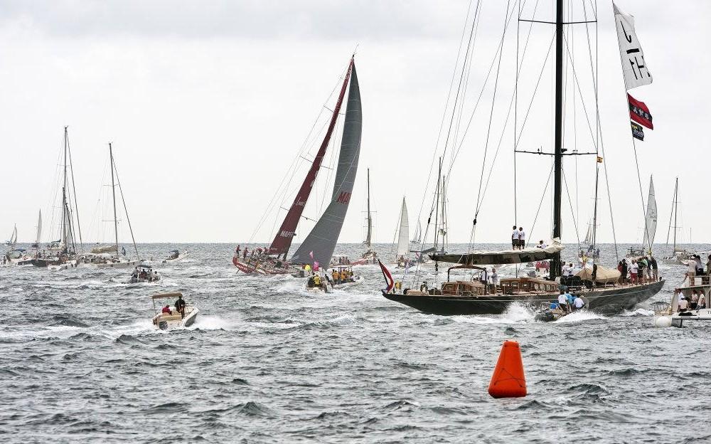 costa blanca volvo ocean race espectadores en el mar