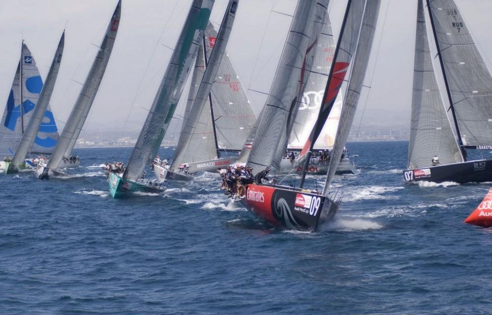 costa blanca volvo ocean race lucha de embarcaciones