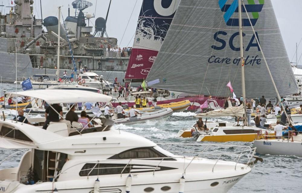 costa blanca volvo ocean race regata entre espectadores