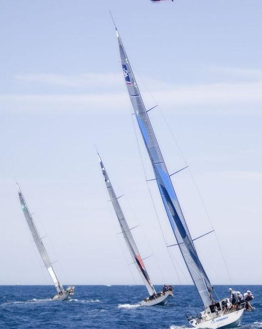 costa blanca volvo ocean race regata y barcos girando