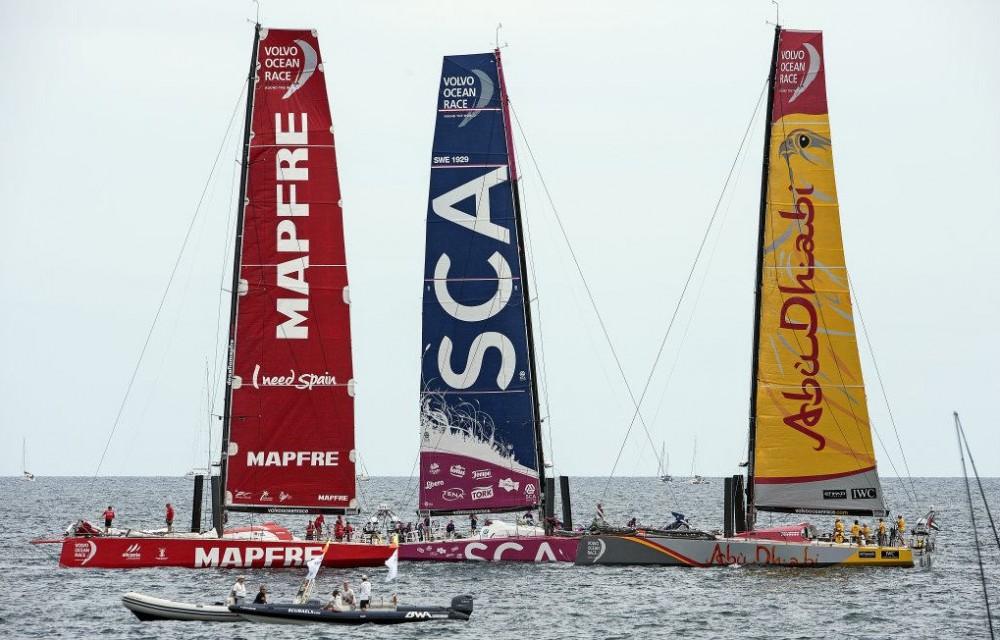 costa blanca volvo ocean race tres equipos compitiendo